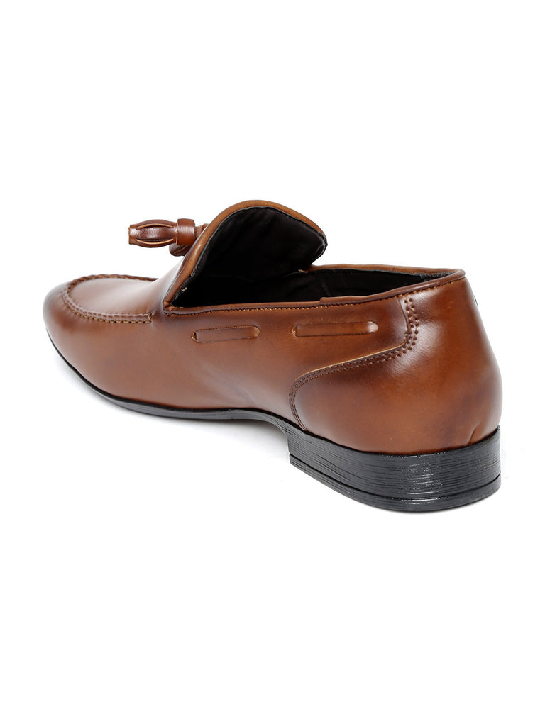 San Frissco Men Tan Brown Semiformal Shoes