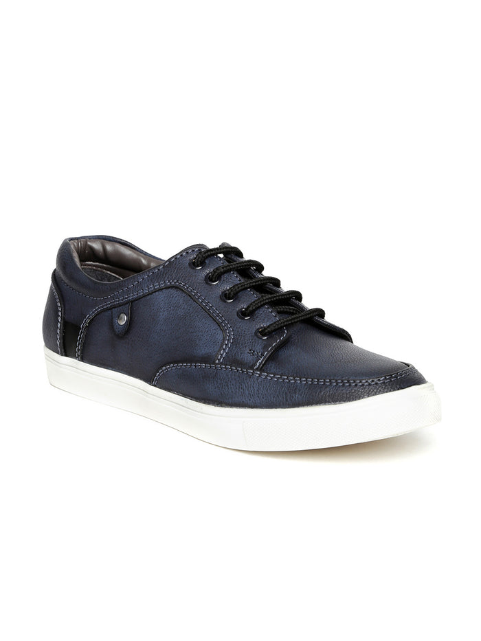 San Frissco Men Navy Textured Sneakers