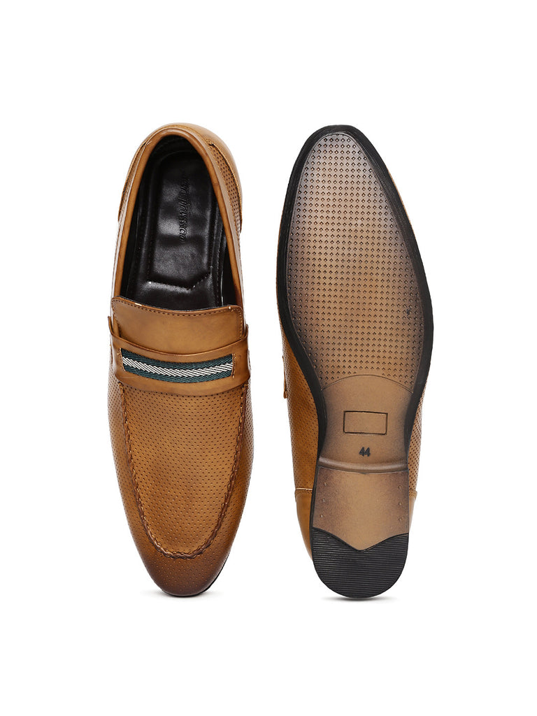 San Frissco Men Tan Semiformal Slip-On