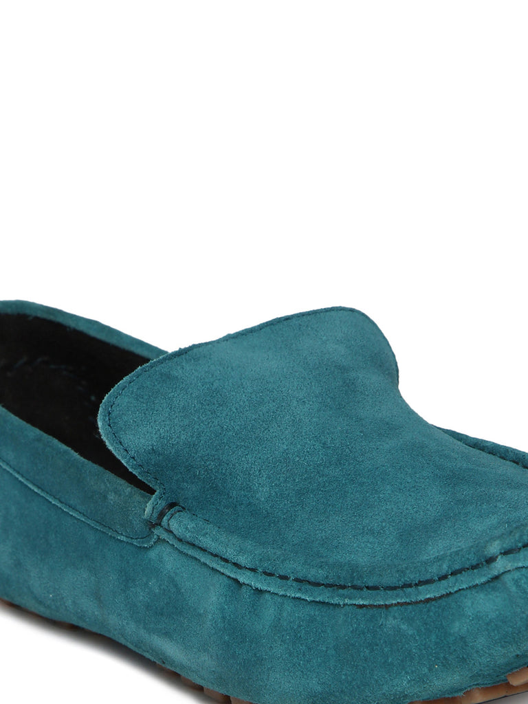 San Frissco Men Teal Blue Solid Driving Shoes