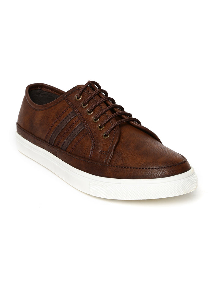 San Frissco Men Brown Sneakers