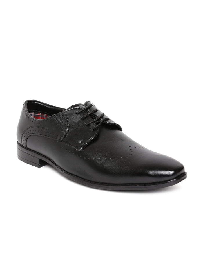 San Frissco Men Black Derby Shoes