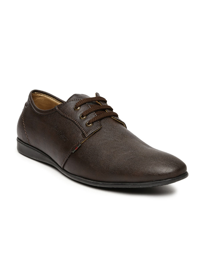 San Frissco Men Brown Solid Derbys