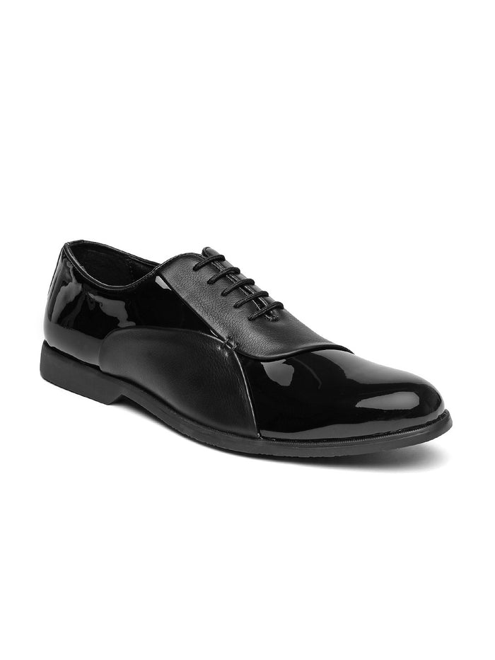 San Frissco Men Black Glossy Oxford Formal Shoes