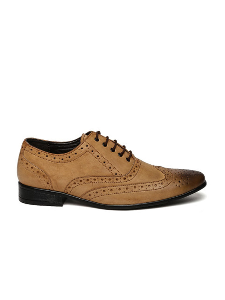 San Frissco Men Brown Oxford Brogues