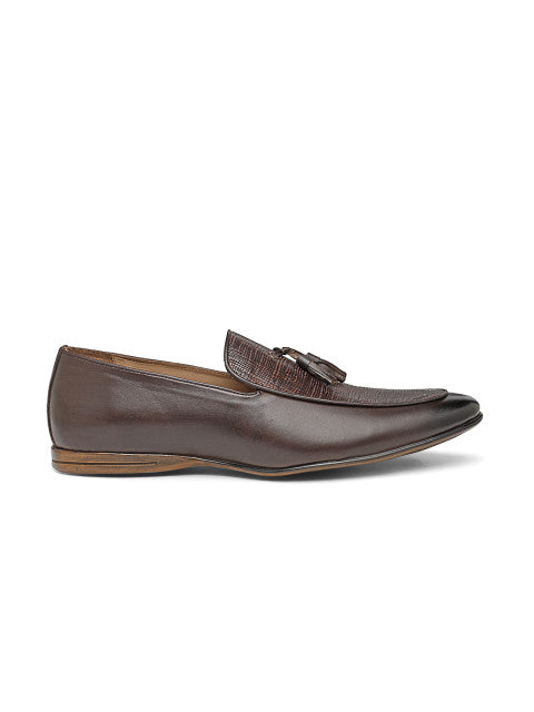 San Frissco Men's Brown Formal Slip-on with tussel