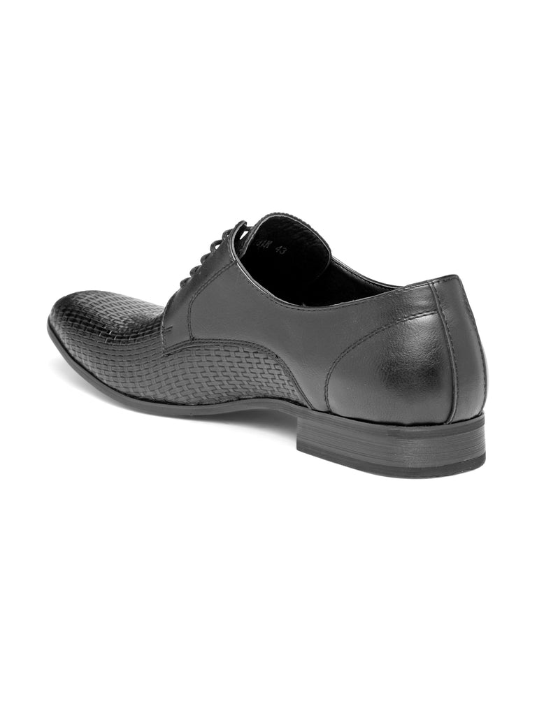 San Frissco Men's Black Formal Lace-up