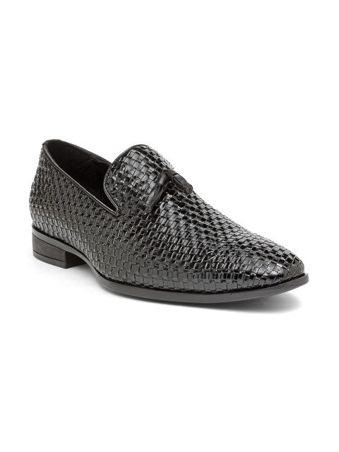 San Frissco Men's Black Slip-Ons With Tussel
