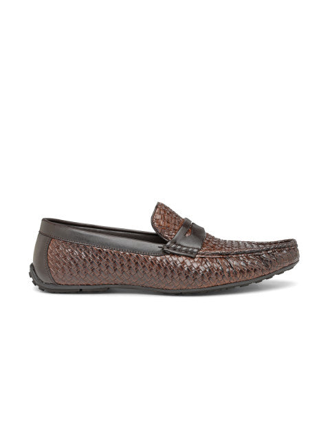 San Frissco Men's Tan Basket Weave Loafers
