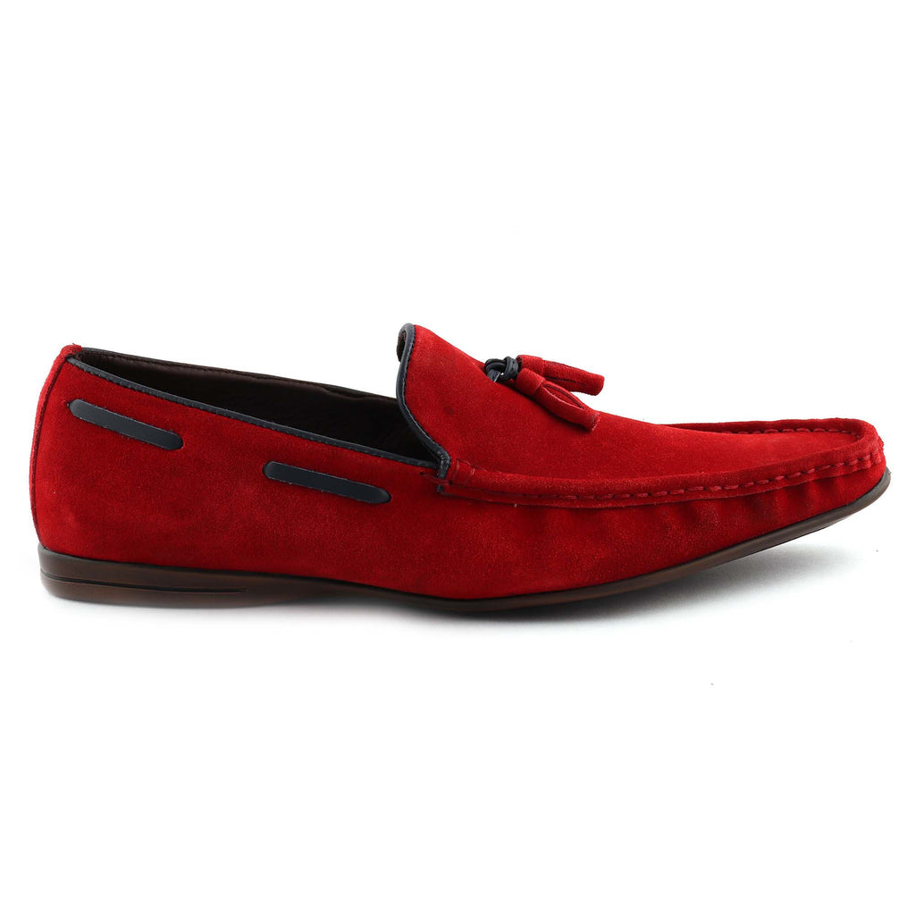 San Frissco Men's Red Casual Loafers