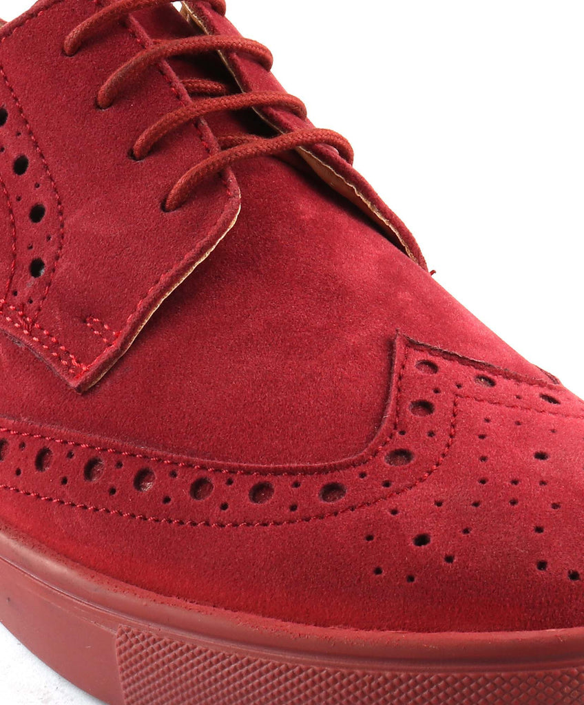 San Frissco Men's Red Casual Lace up