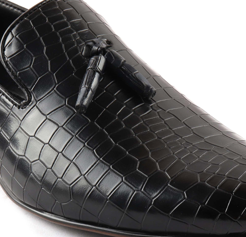 San Frissco Men's Black Formal Oxford