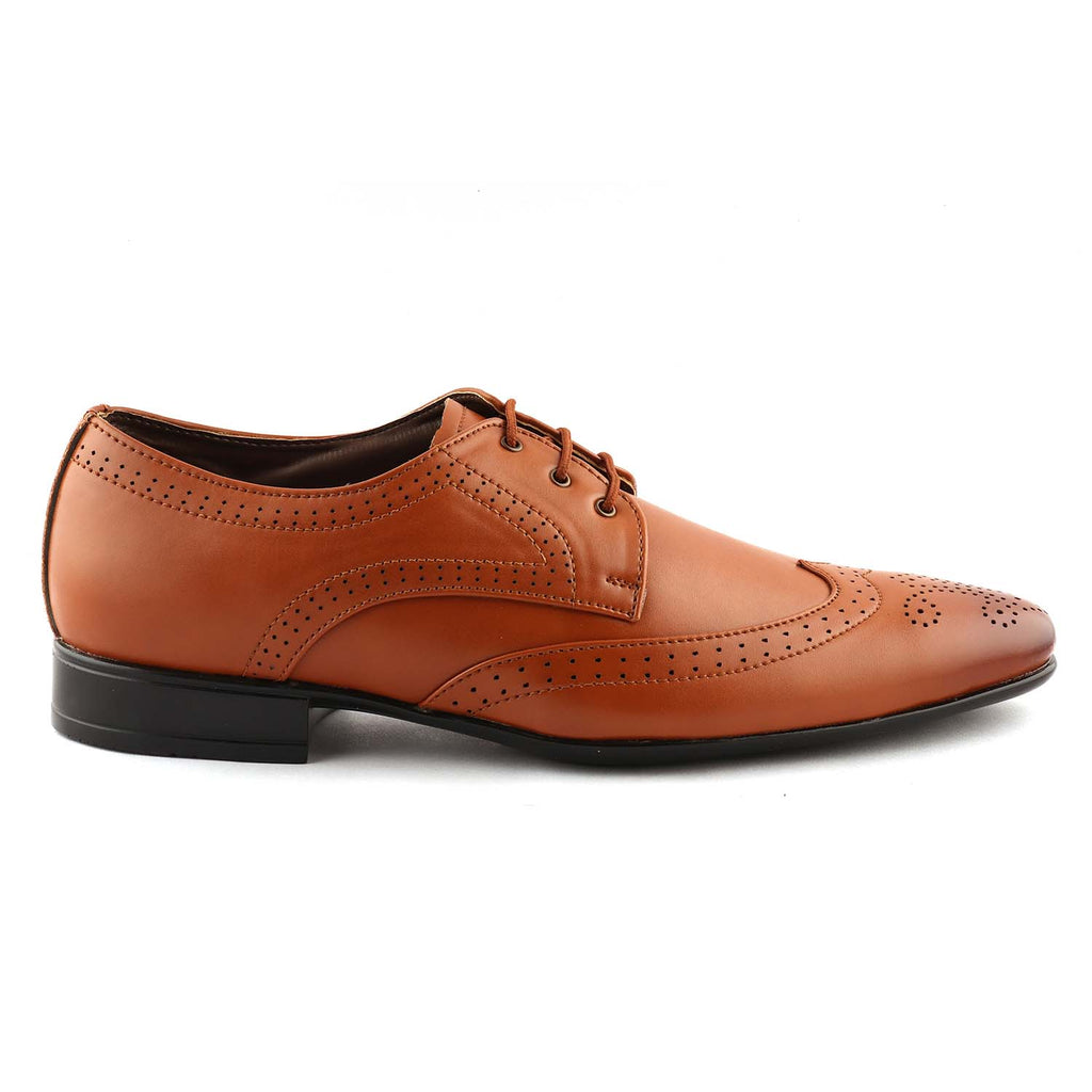 San Frissco Men Tan Formal Shoes