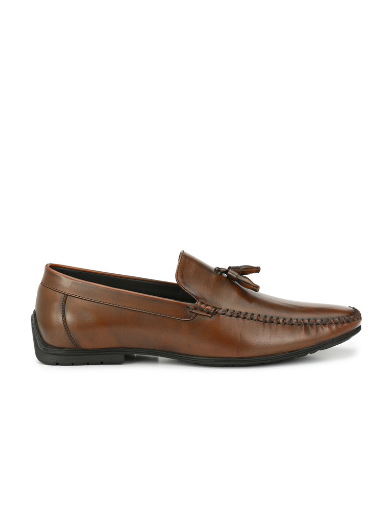 San Frissco Men's Tan Slip-ons With Tussel