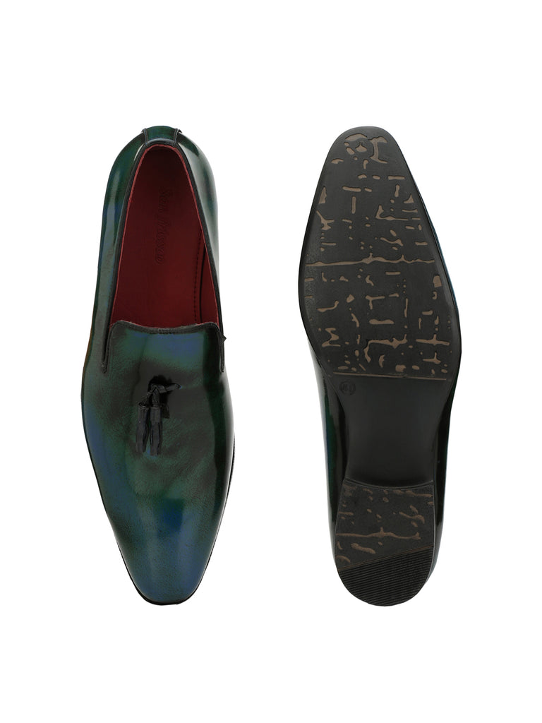 SAN FRISSCO MEN Blue SLIP-ONS WITH TUSSEL