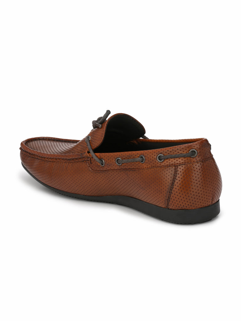 San Frissco Men's Ice Tan Knotted Loafers