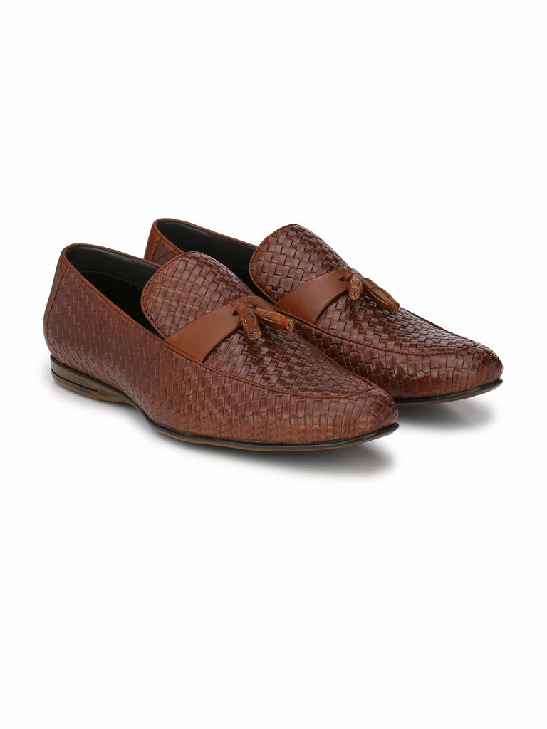 San Frissco men's Brown Slip-Ons With Tussel