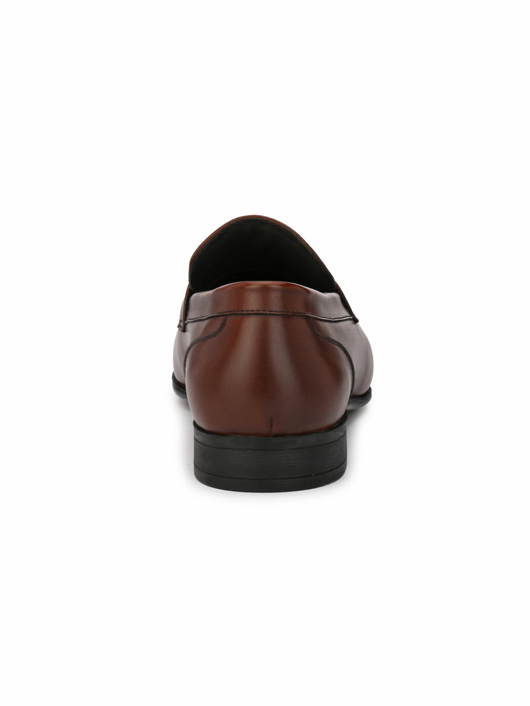 San Frissco Men's Tan-Ice Brown Formal Slip-ons