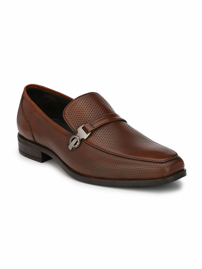 San frissco men's Tan-Brown Formal Slip-ons