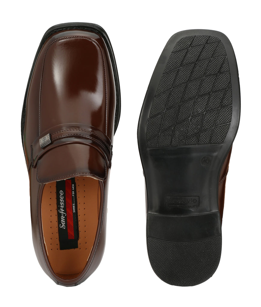 San Frissco Men's Lather Formal Slip-Ons