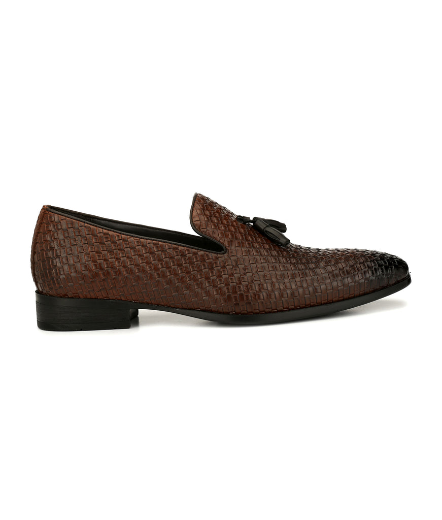 San Frissco Men,s Brown Slip-Ons With Tussel