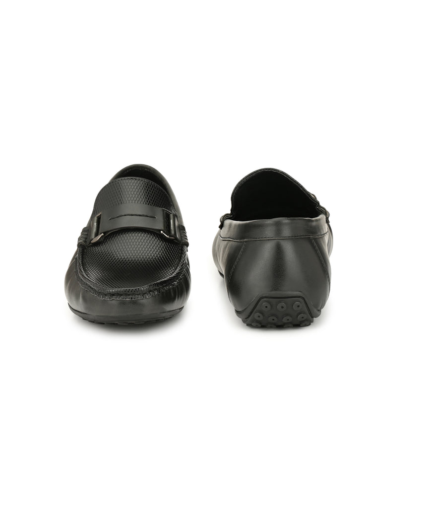 San Frissco Men's Black Casual Loafers