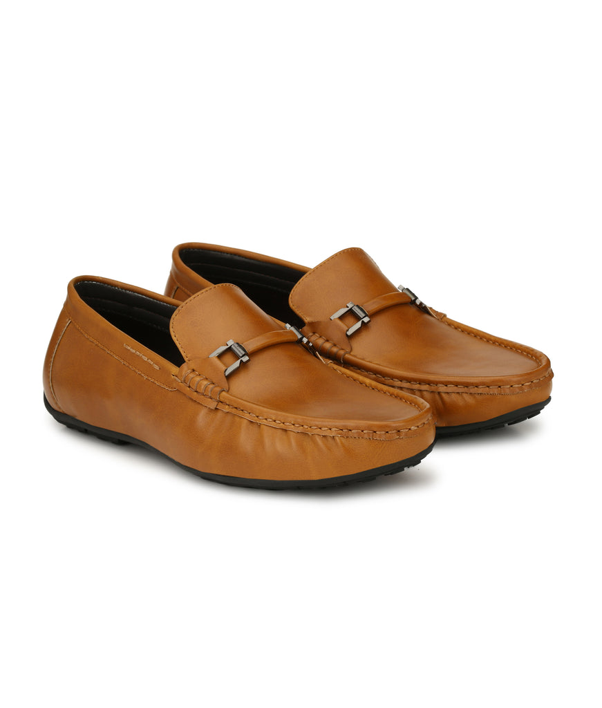 San Frissco Men's Tan Casual Loafers