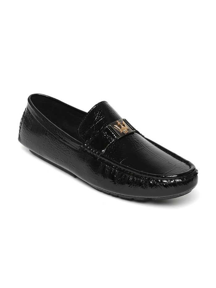 San Frissco Men Black Patent Loafers