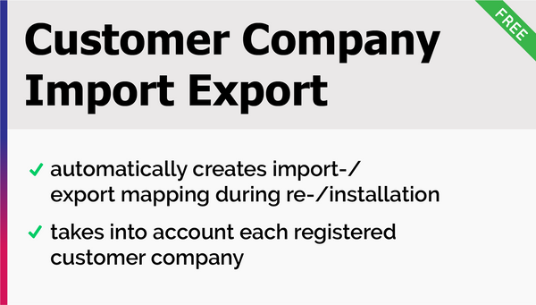 Customer Company Import Export