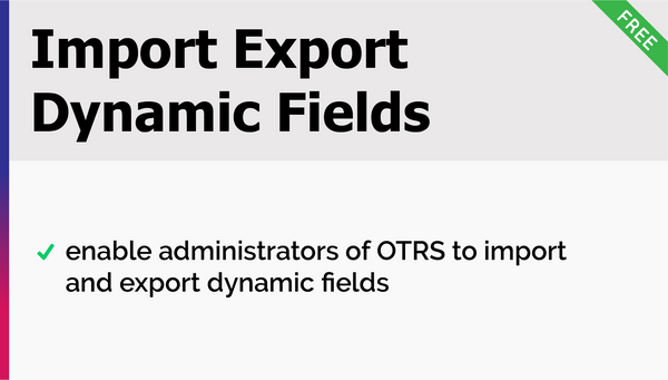Import Export Dynamic Fields Add-On