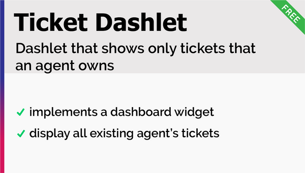 My Tickets Dashlet Add-On