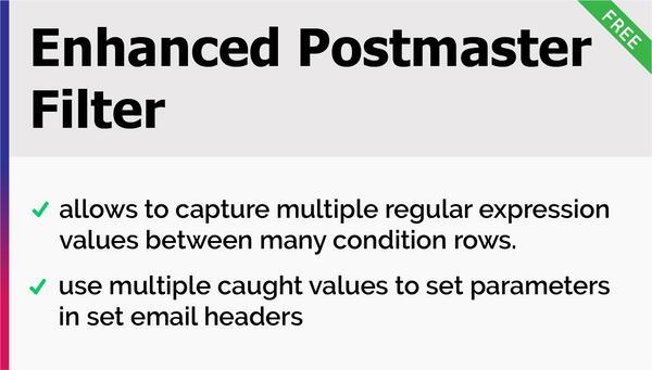 Enhanced Postmaster Filter – Add-ons for OTRS - OTRS