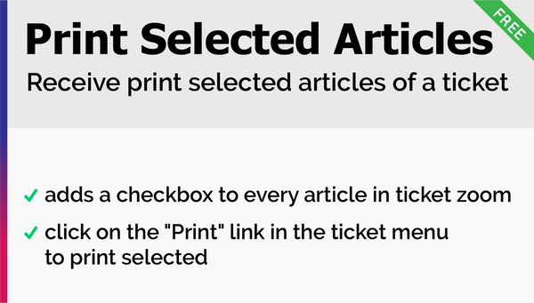Print Selected Articles Add-On