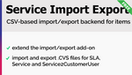 Service Import Export Add-On