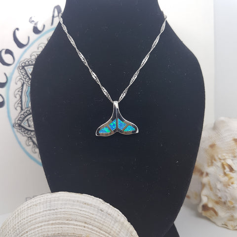 Opal tail necklace - Sterling silver collection