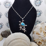 Opal Turtle necklace - Sterling silver collection
