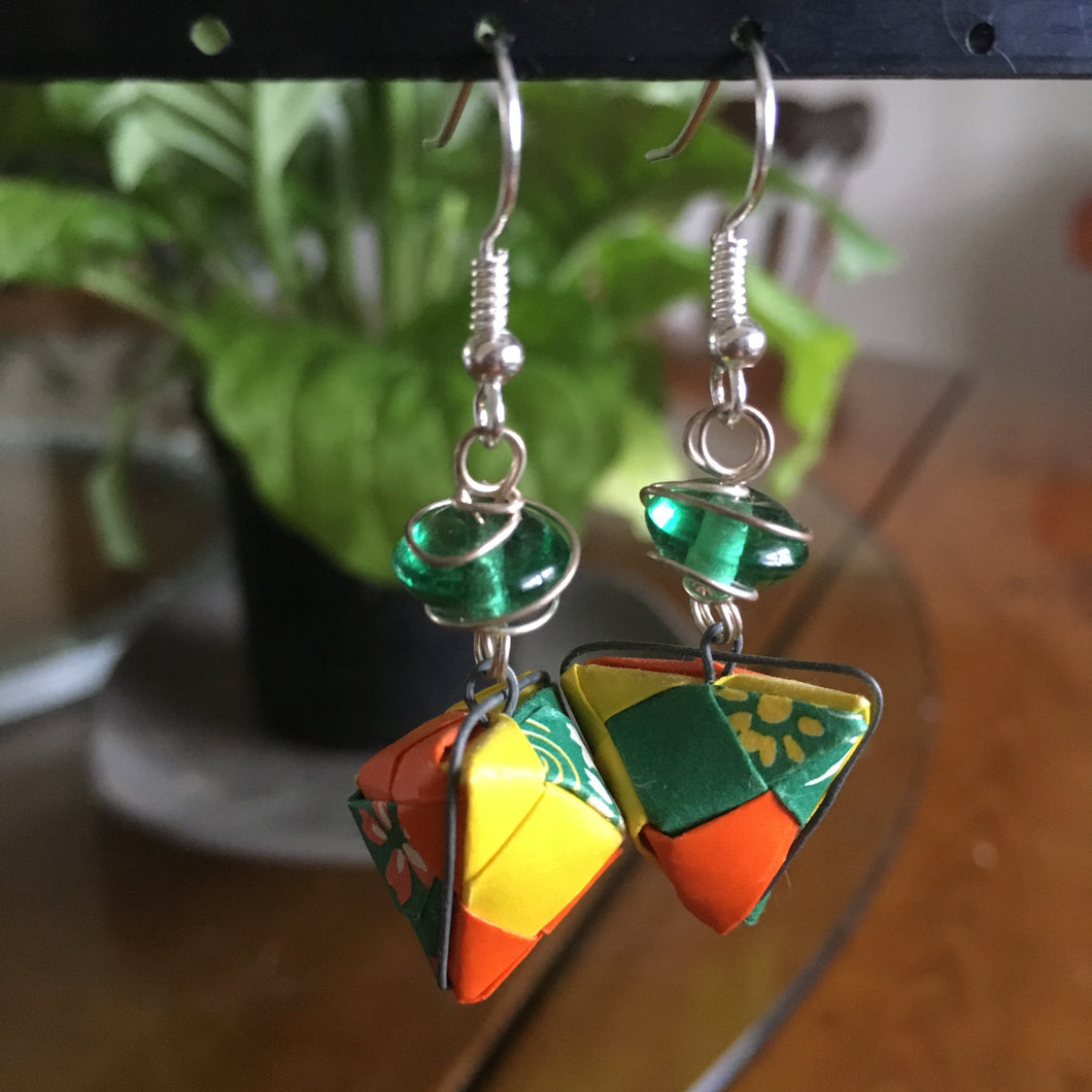 Geometric origami earrings