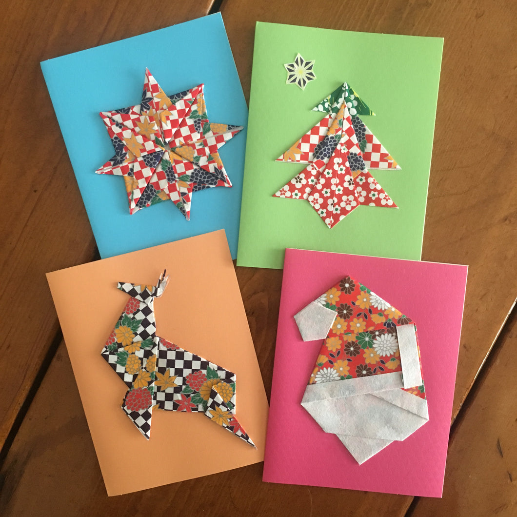 Origami Christmas Cards (Pack of 8)