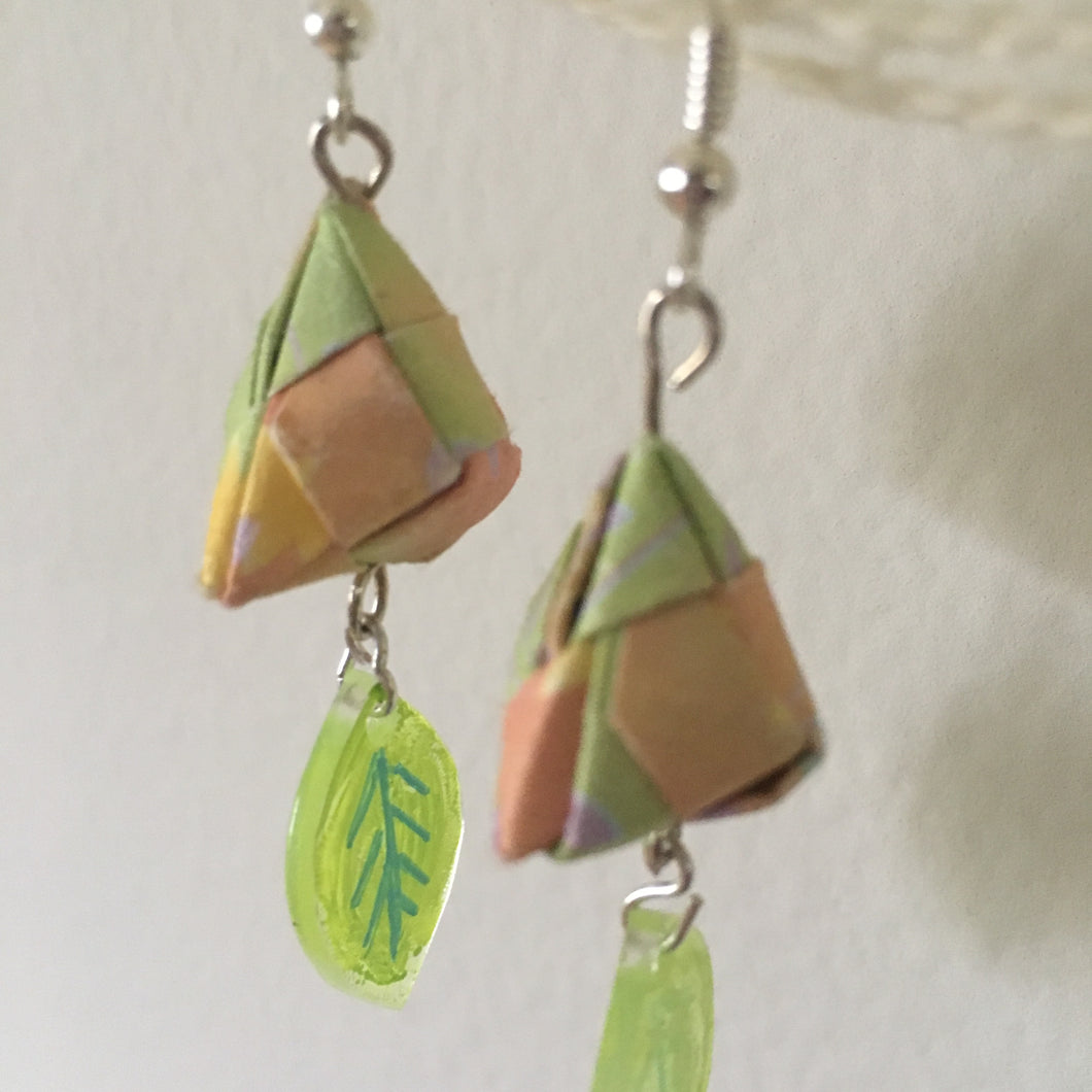 Handmade geometric earrings