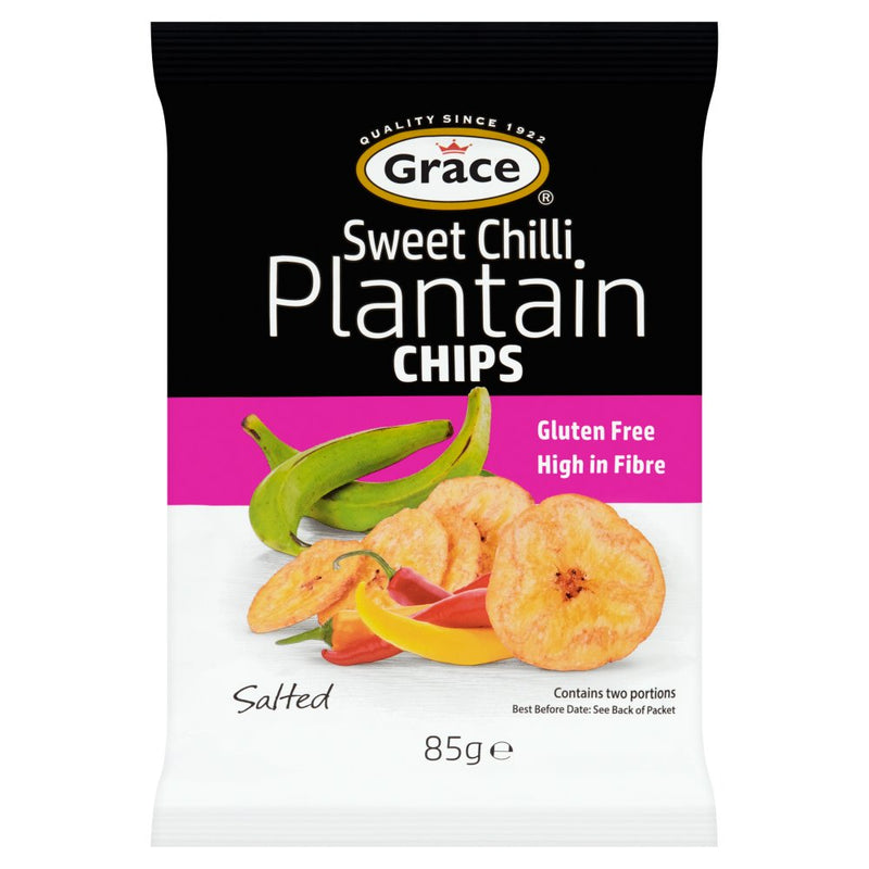 Grace Sweet Chilli Plantain Chips 85g