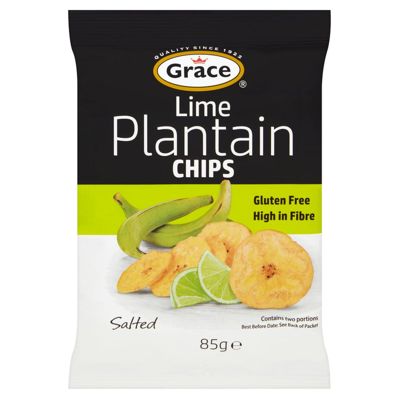 Grace Lime Plantain Chips 85g