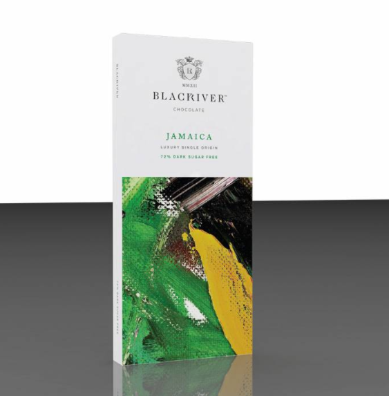 Black River Jamaica Single Origin 72% Dark Sugar Free Chocolate 100g