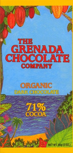 Grenada Chocolate Company 71% Organic Dark Chocolate 85g