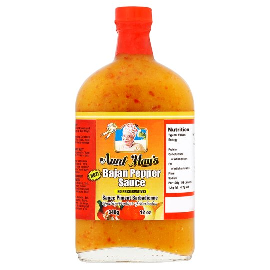 Aunt May's Bajan Pepper Sauce 340g
