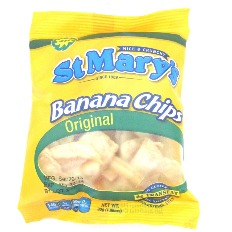 St Mary's Banana Chips 30g