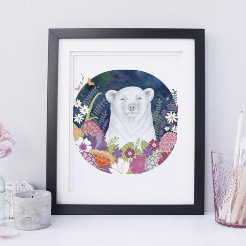 Bear and Blooms Children's Room Art