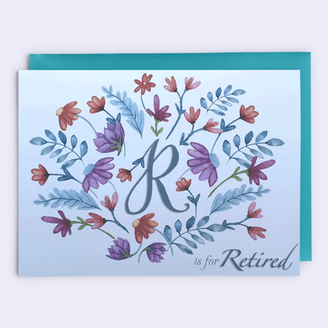 """Let Your New Life Bloom"" Retirement Card"