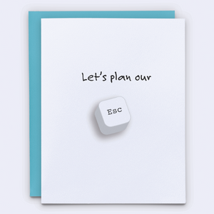 Let's plan our escape relationship card