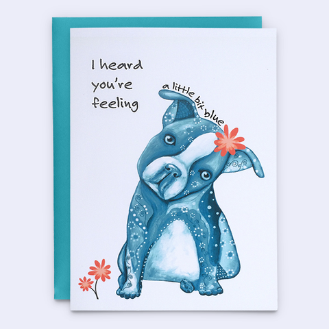 "Get Well Soon Card ""Feeling Blue"""
