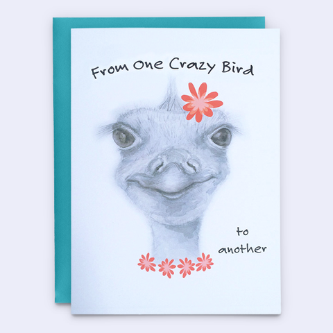 Funny Ostrich Retirement Card